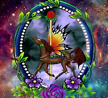 Fairytale Carousel Midnight Rose by GOFORTH