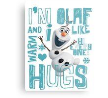 Hi everyone! I'm Olaf Metal Print
