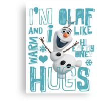 Hi everyone! I'm Olaf Canvas Print