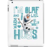 Hi everyone! I'm Olaf iPad Case/Skin