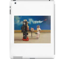 Spaceman Robot's Last Ditch Attempt to Save His World From Everything iPad Case/Skin