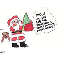 Santa Munching Cookies Photographic Print