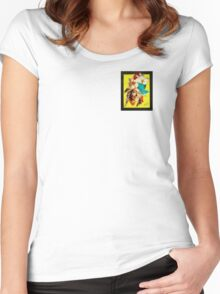 Flora1 Women's Fitted Scoop T-Shirt
