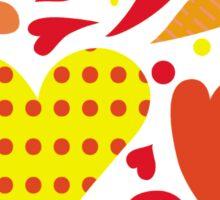 Summer hearts Sticker