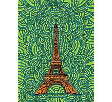 Eiffel Tower Drawing Meditation Photographic Print