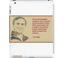 Carl Sagan on marijuana funding NASA iPad Case/Skin