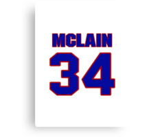 National baseball player Denny McLain jersey 34 Canvas Print
