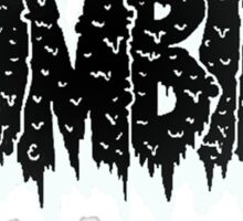 Inverted zombie Sticker