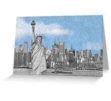 Statue of Liberty New York City New York Skyline Greeting Card