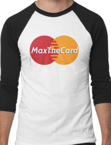 Mastercard Logo Spoof - Max The Card ! Men's Baseball ¾ T-Shirt