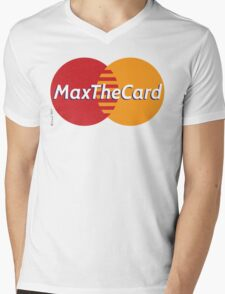 Mastercard Logo Spoof - Max The Card ! Mens V-Neck T-Shirt