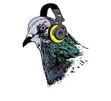 Techno Pigeon v2 Photographic Print