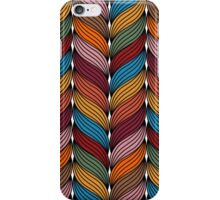 Seamless pattern with stylize sweater fabric in colors. iPhone Case/Skin