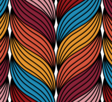 Seamless pattern with stylize sweater fabric in colors. Sticker