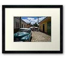 Trinidad Streetscape Framed Print