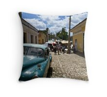 Trinidad Streetscape Throw Pillow