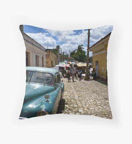 Trinidad Streetscape Throw Pillow