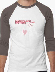Fantastic Heat on Black Men's Baseball ¾ T-Shirt