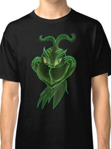 Inverted Grinch Christmas Drawing Classic T-Shirt
