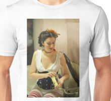 Dickens Fair Corset Model Unisex T-Shirt