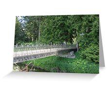 old ornate iron bridge Greeting Card