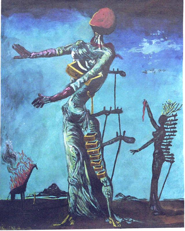 Dali's Burning Giraffe by students