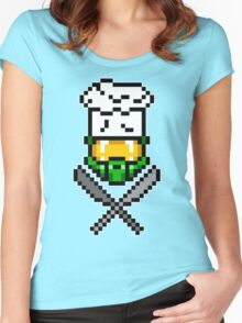 Chef Master Chief 8-Bit T-Shirt Women's Fitted Scoop T-Shirt