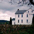 White Farmhouse - Berks County Pennsylvania by Jeremiah Keenehan
