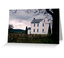 White Farmhouse - Berks County Pennsylvania Greeting Card