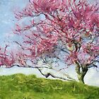 Pink Flowering Tree by Jean Gregory  Evans