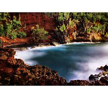 Red Sand Beach Cove Photographic Print