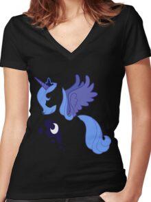 Luna Women's Fitted V-Neck T-Shirt