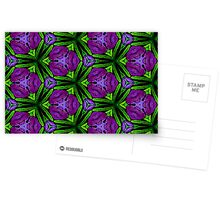 At Night the Purple Violets Bloom Postcards