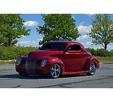 1939 Ford Custom Coupe Street Rod Photographic Print