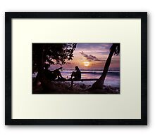 West of here Framed Print