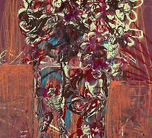 Flowers in vase by Makeba Kedem-DuBose