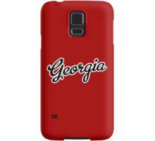 Georgia Script Black Samsung Galaxy Case/Skin