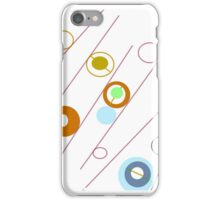 Circles, rods and rings, collectable ART, GIFTS and DECOR iPhone Case/Skin
