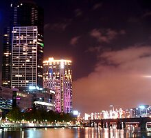 Melbourne by night by Paige