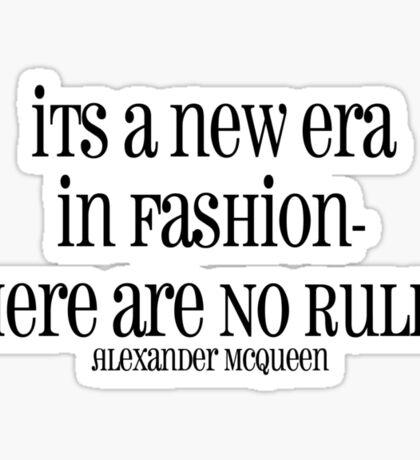 no rules in fashion Sticker