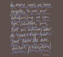 Handwritten (dark shirt) by Ronald Wigman