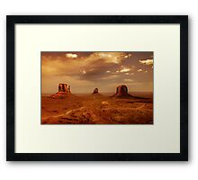 Earth's edge Framed Print