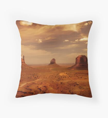 Earth's edge Throw Pillow