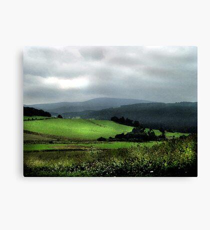 Green hills of Bohemia Canvas Print
