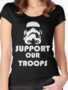 Support our Troops Funny Geek Nerd Women's Fitted Scoop T-Shirt