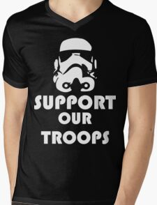 Support our Troops Funny Geek Nerd Mens V-Neck T-Shirt