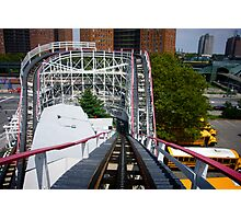 Ride the Coney Island Cyclone Photographic Print