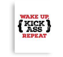 Motivational - Kick ass Canvas Print