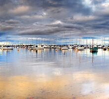 Stormy Over the Boats by Kirk  Hille