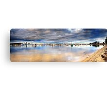 Stormy Over the Boats Canvas Print